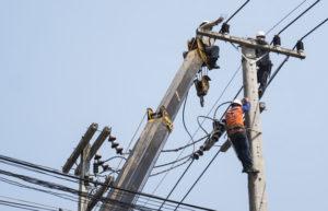 eletricista de rede de distribuição de energia elétrica